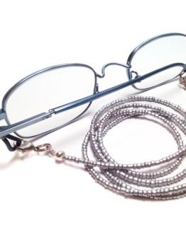 Silver Eyeglasses Chain Silver Eyeglasses Lanyard Silver Beaded Eyeglasses Holder Silver Reading Glasses Chain Silver Sunglasses Lanyard