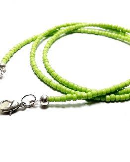Lantisor pentru ochelari cu margele verzi
