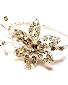 Tiara cu floare din cristale