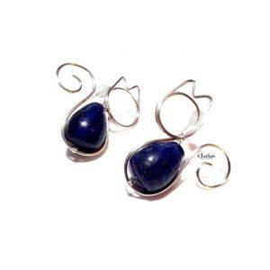 wire wrap cat earrings