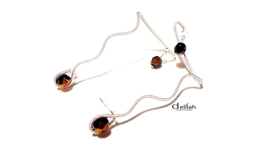 Coffee Wire Wrap Ear Cuff Earrings Crystal Earcuff Earrings Coffee Crystals Stud Earrings Post Earrings Ear Climbers Adjustable Ear Cuff