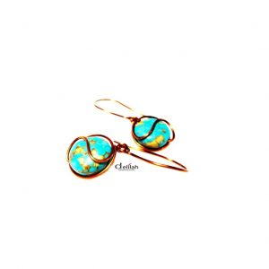 Turquoise earrings, wire wrap earringsgemstone earrings, gemstone jewelry, mother's day, gift earrings, gift jewelry, turquoise