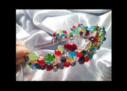 Colorful Crystal Wedding Tiara Crystal Wedding Crown Bridal Crystal Tiara Colorful Crystal Hair Accessory Crystal Headpiece