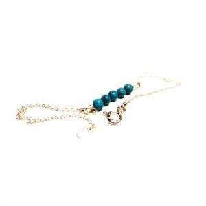 Turquoise Bracelet Birthstone Bracelet Turquoise Silver Bracelet Gemstone Bracelet Beaded Bracelet Birthday Turquoise Bracelet