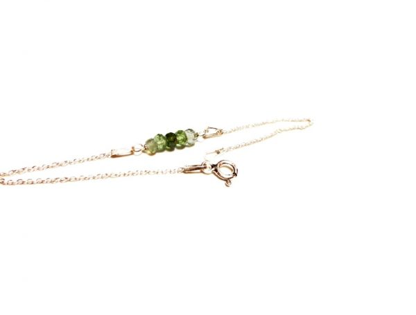 Green Tourmaline Sterling Silver Bracelet Birthstone Bracelet Zodiac Jewelry Gemstone Bracelet Green Tourmaline Bracelet Gift Bracelet