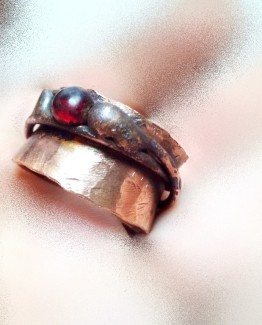 Wide Copper Band Ring Unique Stackable Red Copper Band Ring Statement Copper Ring Index Copper Ring One of a Kind Copper Ring Fashion Ring