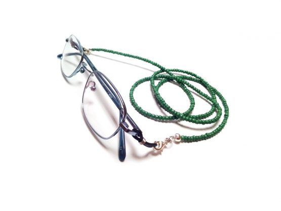 Green Eyeglasses Chain Beaded Eyeglasses Lanyard Green Eyeglasses Holder Reading Glasses Chain Sunglasses Chain Beaded Glasses Accessories