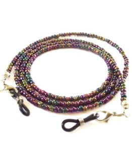 Rainbow Colorful Eyeglasses Chain Mauve Beaded Eyeglasses Lanyard Eyeglasses Holder Glass Bead Eyeglass Accessories Beaded Eyeglass Eyewear