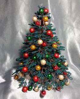 Green Christmas Tree Home Decor Green Christmas Tree Table Decor Christmas Decoration Xmas Tree Decoration Xmas Tree with Beaded Ornaments