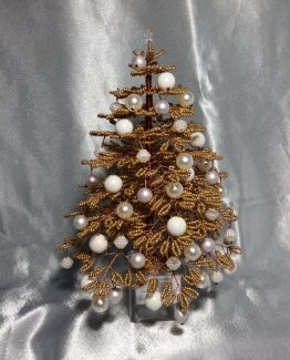 Golden Christmas Tree Table Decor Golden Xmas Tree Home Decor Golden Fir Tree Colorful Decoration Ornaments Golden Christmas Decoration Tree