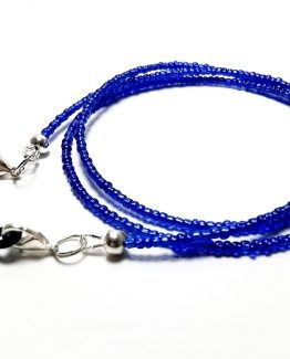 Lantisor pentru ochelari margele albastre
