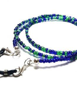 Lantisor pentru ochelari verde cu albastru
