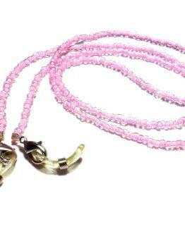 Lantisor pentru ochelari margele roz