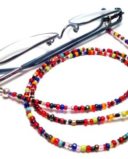 Lantisor pentru ochelari margelute colorate