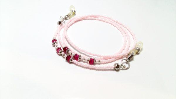 lantisor roz pentru ochelari